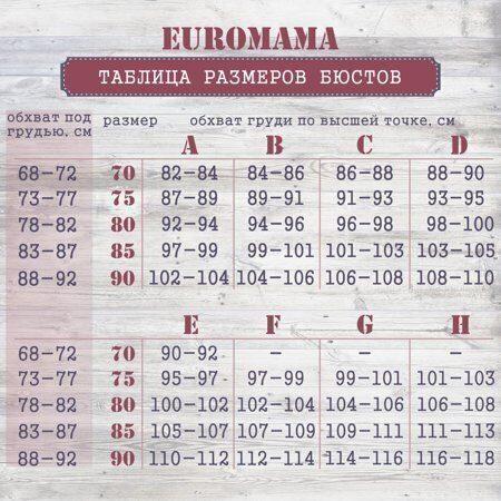 ЕМ таблица размеров бюстов
